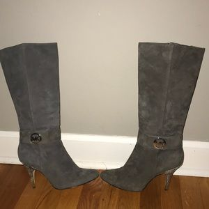 Michael Kors Size 8 1/2 Grey Leather Boots